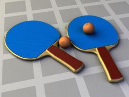 Paddles and Ball by bryceguy72