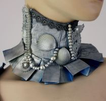 Arctic mermaid collar by Pinkabsinthe