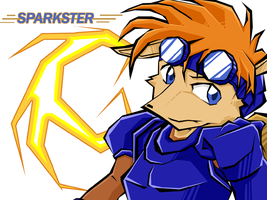 Sparkster the rocket knight by Touji