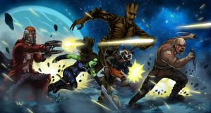 The Guardians of the Galaxy by Hidd3nNiN