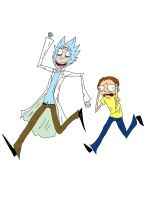 Rick and Morty by G-oo-P