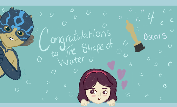 Shape of Water at the Oscars by TheYUO