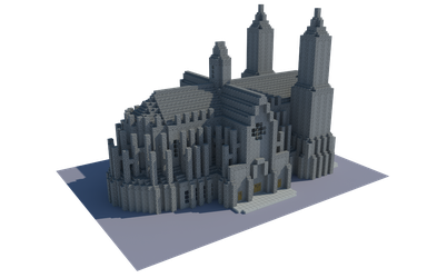 Minecraft Cathedral v1.0 by andrei030