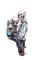Dadster And Sans by Lost-Opium