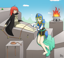 Commission #9: Shana tickled by tk0-Art