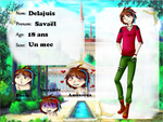 [Kamigami-Academy] Fiche Humain- Savael Delajuis by Mirmille