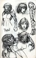 Sketches 7 part 1 Ink by Rayvell