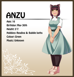 Anzu - Character Sheet by R0cket-Cat