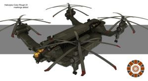 Heavy Helicopter concept by Spex84