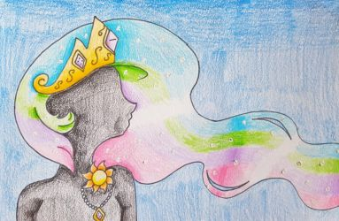 Princess Celestia's End Card by Punisher2006