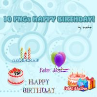 Happy Birthday PNG Texts by KrisPS