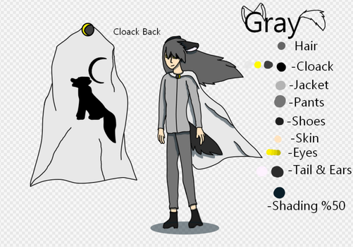 Gray My OC by WolfCat100