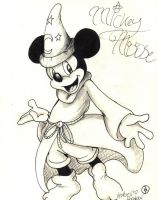 Magical Mickey.:sketch:. by SonicHearts