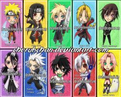 TAF Bookmarks by cherubchan