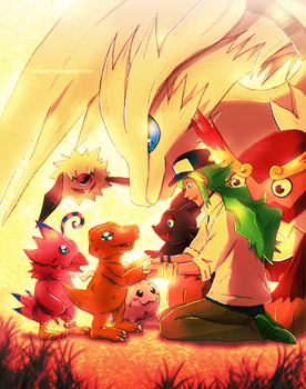 Pokemon and Digimon - Let's be friends by neshirys