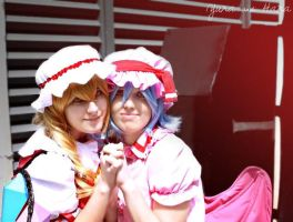 Flandre and Remilia Sisters by YunaB-Rabbit
