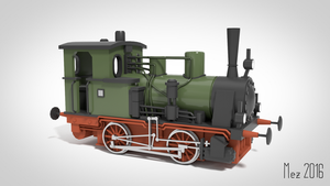 steam locomotive by Mezaka