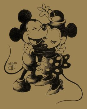 Mickey and Minnie by magur