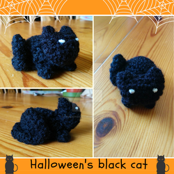 Black cat crochet by TheMadnessOfMe