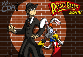 Mr. Coat Roger Rabbit Month Card by Slasher12