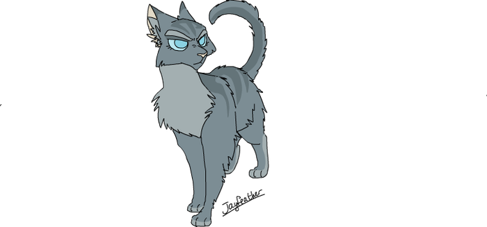 Jayfeather (Moth's Wings MAP Ref) by ChikkiArts