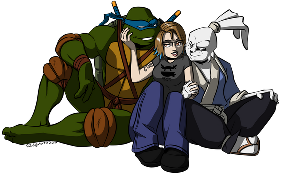 Commission- Megan and Her Sword Boys by R2ninjaturtle