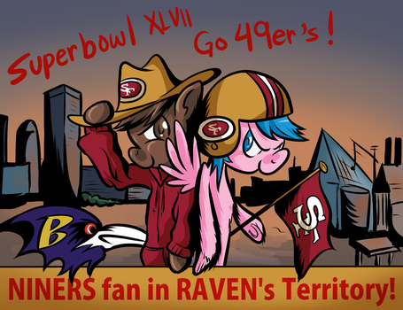 Let's go Niners! In Raven's territory. by SouthParkTaoist