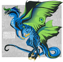 [CLOSED] Draken Peacock | Dragon Adopt by jaoqy