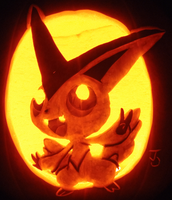 Victory Pumpkin - Victini by johwee