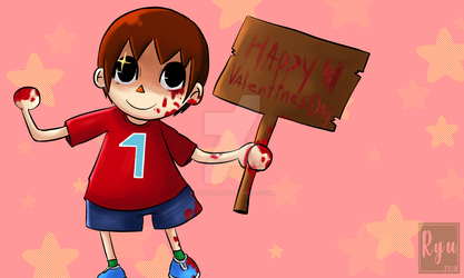 Redraw - Villager San Valentin by RyuichiDraws