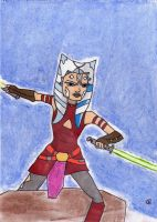 Sketch Card Ahsoka Tano by Giorgia99