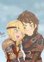 Astrid X Hiccup by Nuskineta