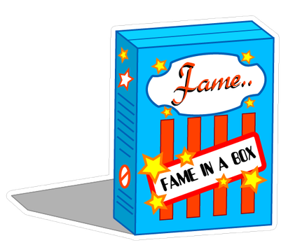 Fame in a box... by Block-boy