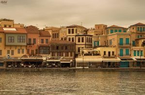 Autumn in the old Venetian port of Chania IV by BillyNikoll