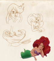 Ariel hair practice by Soleila15