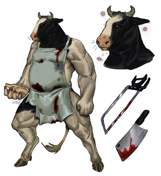 Butcher cow by Silicon65