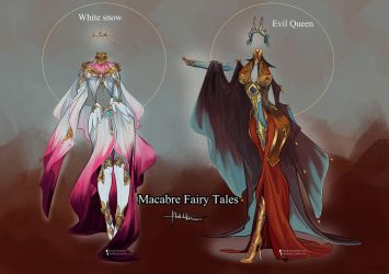 Commission: Snow White Outfit Designs by Hassly