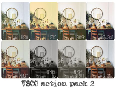 VSCOish Actions Pack 2 by beorange