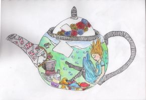 Alice In The Teapot by AbsyntheRequiem