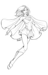 Supergirl Lineart 2013 by DStPierre