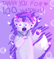 THANK YOU FOR 100 WATCHERS + pride month by Ferretser