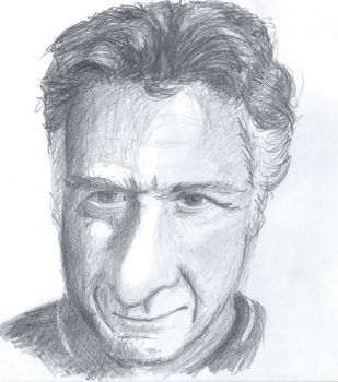 Pencil drawing Dustin Hoffman by Barbarian-J