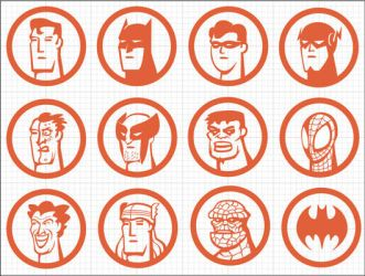 Iconos Super Heroes by Bonadesign