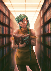 Lost in a book - Mirta by neshirys