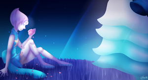 Steven Universe - Pearl and Rose :REDRAW: by PassingMysterious