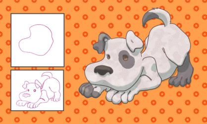 A dog - Shape exercise by Tirena
