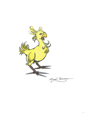 Colored Young Chocobo by Marcel-C