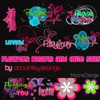 Flowers Hearts Cute Stuff PNG by aboutnileydesings