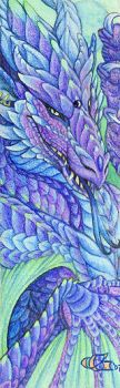 Emeralds and Amethyst Dragon by Goldenwolf