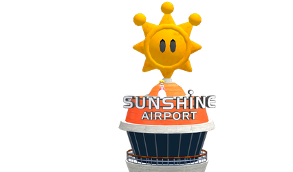 Super Mario Sunshine 2- Peach and Airport by o-CamTroArtist-o